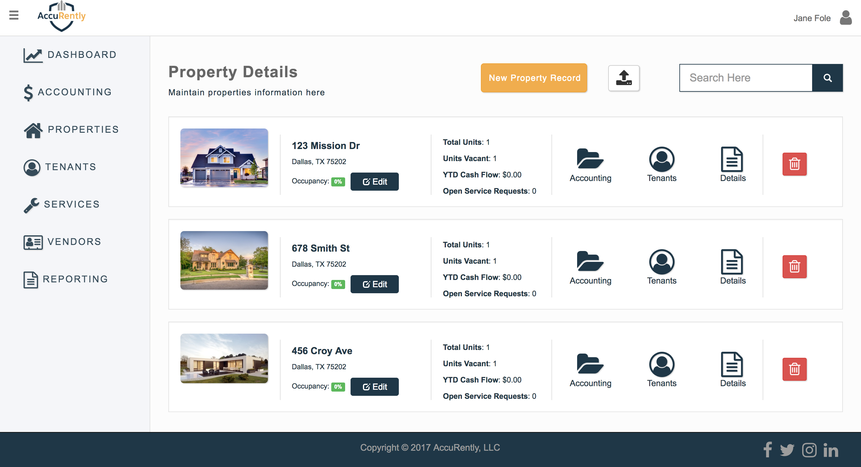 property listing features